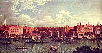 River Fleet - Entrance to the Fleet River, by Samuel Scott, c. 1750