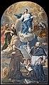 San Giacomo dall'Orio (Venice) - Immacolata con Sant'Anna, San Gioacchino, Sant'Antonio da Padova, San Giuseppe e San Francesco di Sales, (1734), di Giovanni Battista Cromer.jpg