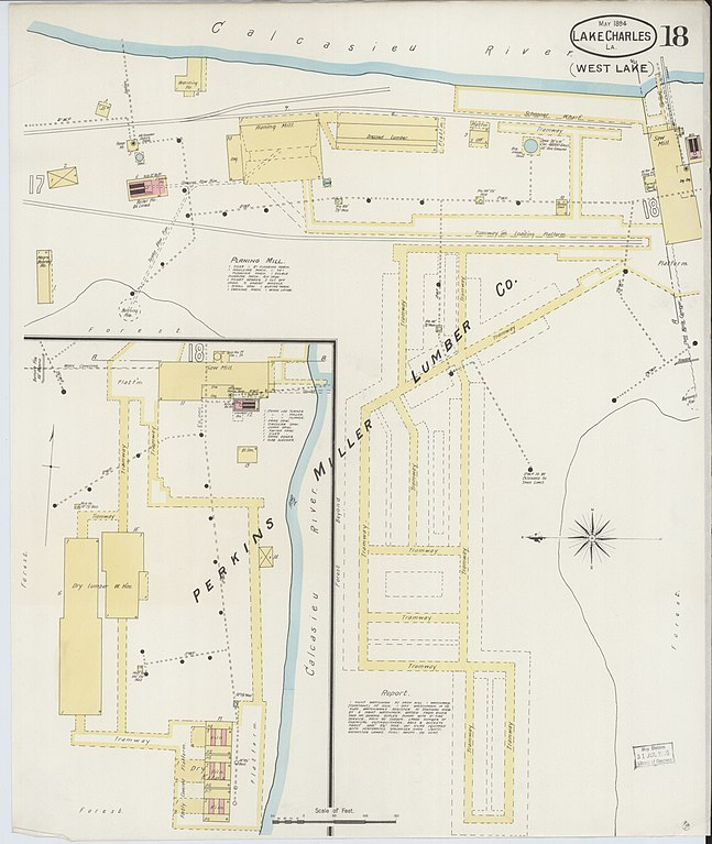map of calcasieu lake File Sanborn Fire Insurance Map From Lake Charles Calcasieu map of calcasieu lake