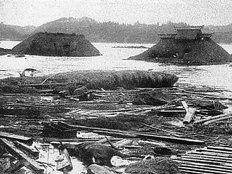 1896 Sanriku earthquake - Devastation caused by the tsunami at Sanriku.