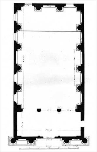 Santa Maria Nova, Vicenza - Drawing of Plan by Ottavio Bertotti Scamozzi, 1776