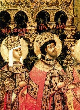 Santa Teófano y León VI el Sabio