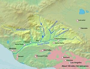 Santa Clara River Valley - Watershed of the Santa Clara River.
