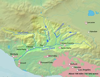 Santa Clara River Valley - Watershed of the Santa Clara River.