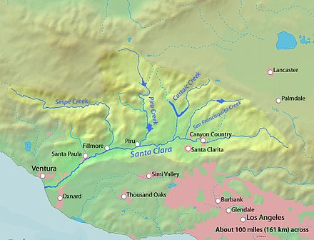 Santa Clara river watershed
