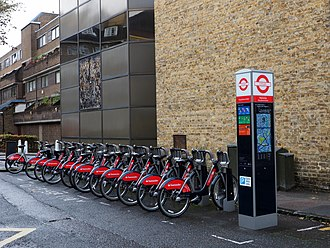 Santander Cycles - Docking station in Southwark