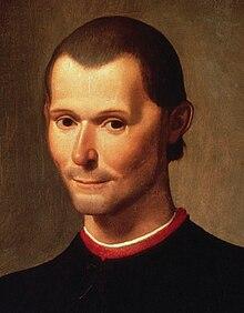 Portrait posthume de Nicolas Machiavel (détail), par Santi di Tito