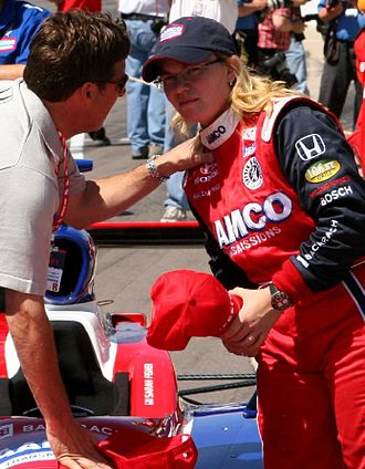 Sarah Fisher - Sarah Fisher after qualifying for the 2007 Indianapolis 500