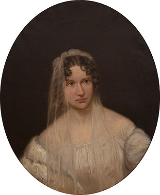 Sarah Helen Whitman - Sarah Helen Whitman, painted by John Nelson Arnold, after an original painting by Cephas Giovanni Thompson