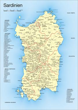 Die neuen Provinzen Sardiniens