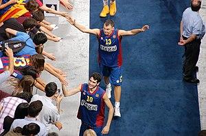 Šarūnas Jasikevičius - Šarūnas Jasikevičius with his first EuroLeague-winning team Barcelona.
