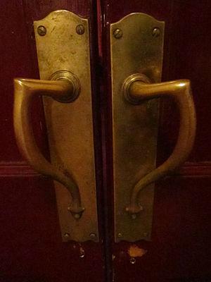 Savoy Theatre, Monmouth - Image: Savoy Theatre Monmouth main door handles