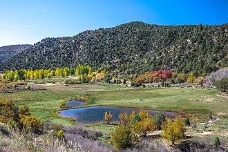 Duck Creek Village, Utah - Duke Lake at Duck Creek Village, October 2015