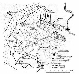 Battle of Torgau - Map of the battle