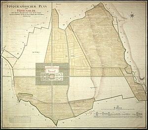 Hohenheim Castle - Image: Schloss Hohenheim Topographischer Plan 1772