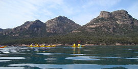 Sea kayaking from Coles Bay.jpg