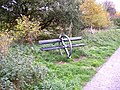 Seat on the Spen Valley Greenway, Dewsbury - geograph.org.uk - 78287.jpg
