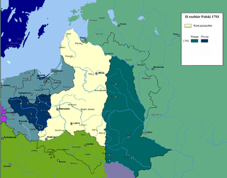 Second Partition of Poland 1793 division of Poland