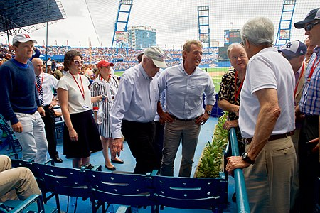 Secretary Kerry Speaks With U.S. Congressional Delegation at Estadio Latinoamericano in Havana, Cuba (25999443635).jpg