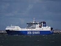 Selandia Seaways (navire, 1998) OMI 9157284 quittant le port de Rotterdam pic1.JPG