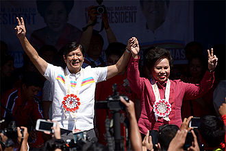 Miriam Defensor Santiago presidential campaign, 2016 - Defensor with her running mate Bongbong Marcos