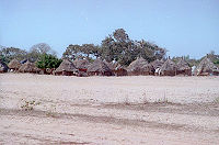 Huts in the countryside