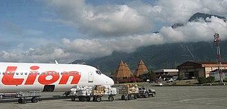 Sentani International Airport - Lion Air MD-83 parked at Sentani Airport of Jayapura