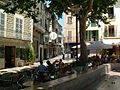 Shady Gathering in Soller Town Square - panoramio.jpg