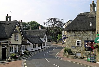 Shanklin village on the Isle of Wight, England