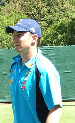 Shaun Marsh at a training session at the Adelaide Oval, 2009