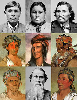 Collage of Shawnee people collected from vario...