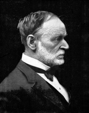Sherman in his later years, in civilian evening clothes Sherman Profile.png
