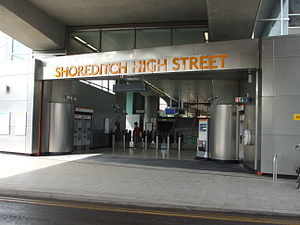 Shoreditch High Street railway station - Station entrance