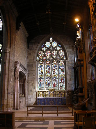 George Talbot, 4th Earl of Shrewsbury - The Shrewsbury Chapel in Sheffield Cathedral  (commissioned by George Talbot)