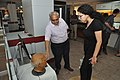 Shrikant Pathak Showing Hyperrealistic Head Sculpture To Sara Waitzer - GSM Project Members Visit NDL - NCSM - Kolkata 2018-02-22 8036.JPG
