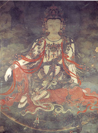 Fahai Temple - Portrait of Water-moon Bodhisattva from the temple's Ming dynasty frescoes