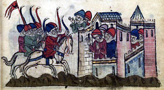 Franco-Mongol alliance - Kitbuqa besieging Sidon after his nephew's murder by Julian Grenier