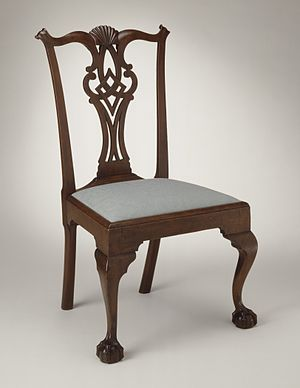 Eliphalet Chapin - Side chair (c. 1780) attributed to Chapin, Los Angeles County Museum of Art.