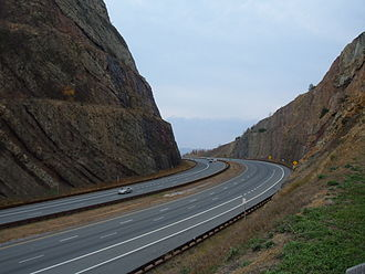 Hancock, Maryland - Image: Sideling Hill road cut for Interstate 68 in Maryland