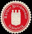 Siegelmarke II. höhere Mädchenschule - Schöneberg W0246694.jpg