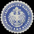 Siegelmarke K. Marine Kommando S.M.S. Blücher W0363980.jpg