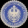 Siegelmarke K. Marine Kommando der I. Marine-Division W0357536.jpg