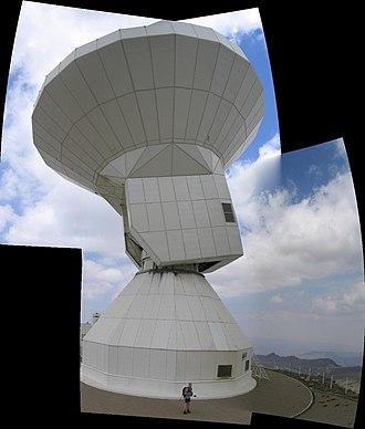 Sierra Nevada Observatory - Image: Sierra Nevada Observatory Radio Telescope Closeup