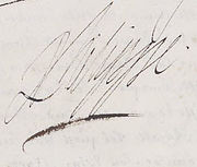 Signature of Philippe of France, Duke of Orléans, brother of Louis XIV.jpg