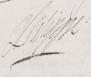 Philippe I, Duke of Orléans - Image: Signature of Philippe of France, Duke of Orléans, brother of Louis XIV