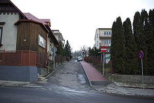 Sikorskiego Street in Sanok view from Słowackiego.jpg