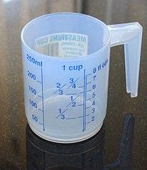 мерный стакан. Как определить объем жидкости