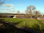 Sindlingen Mainaue mit Mainbrücke