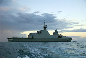 Formidable-class frigate - Astern view from starboard: RSS Steadfast during RIMPAC 2008.
