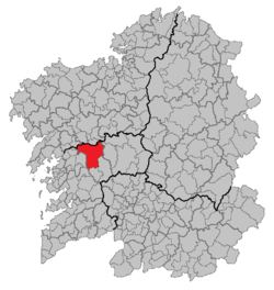 Situation of Estrada within Galicia